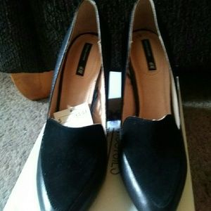 H&M Genuine Leather Heels NWT